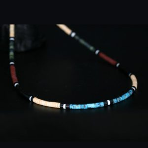 Heishi necklace by Harvey & Janie Chavez, Kewa Pueblo