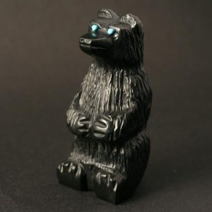 Black Bear Sitting by Mike Tucson, Zuni