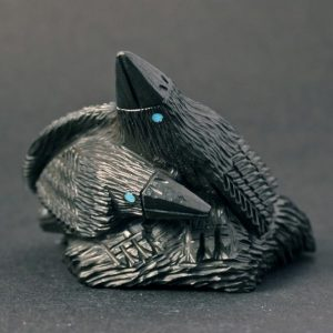 Raven Lovebirds by Destry Suitza