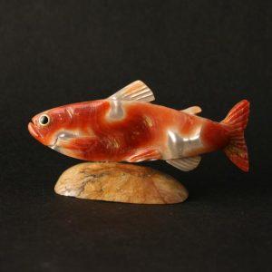 Fish by Lloyd Tsalabatie, Zuni