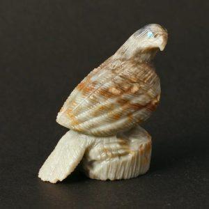 Hawk Fetish Carving by Colin Weeka, Zuni