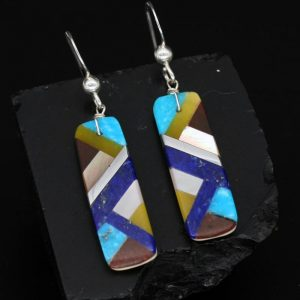 Inlay Earrings by Stephanie & Tanner Medina, Kewa