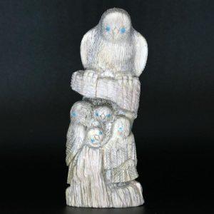 Zuni Owl Family by Destry Siutza