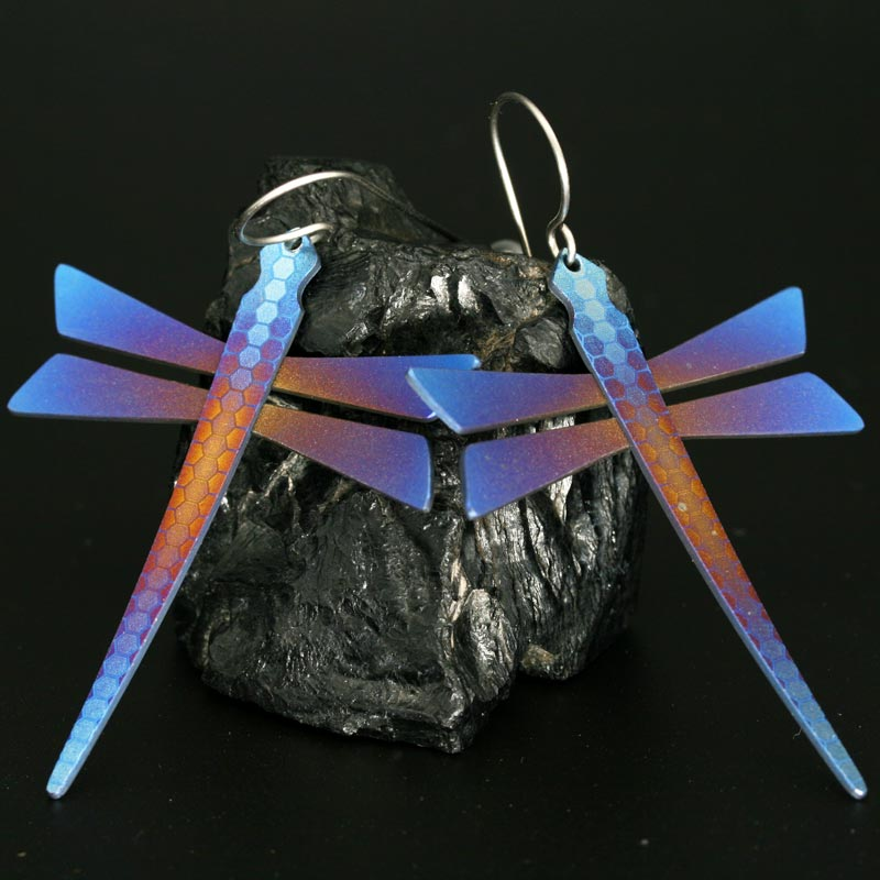 Pat Pruitt Dragonfly earrings