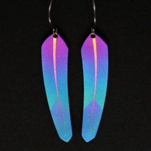 Pat Pruitt Tech Feather earrings