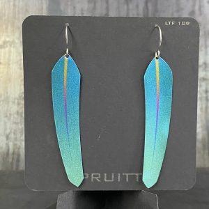 Tech Feather earrings by Pat Pruitt
