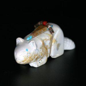 Zuni Beaver Fetish by Alex Tsethlakai