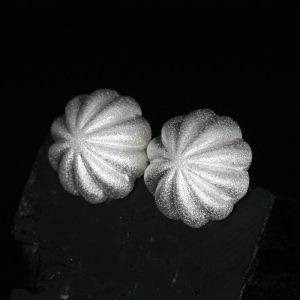 Silver Button Earrings by Chris Pruitt