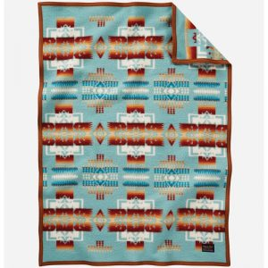 Pendleton Chief Joseph Crib blanket, Aqua