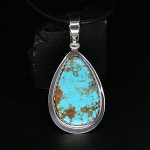 Turquoise Pendant by Allen B Paquin, Jemez Peublo