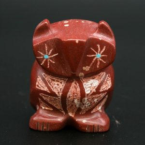 Pipestone Owl Fetish by Brandon Phillips, Zuni