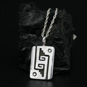 Hopi Silver Overlay Pendant By Anthony Honahnie