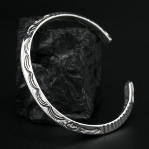 Silver Triangular bracelet by Allen B Paquin