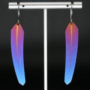 Small TechFeather Earrings by Pat Pruitt