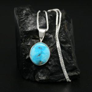 Turquoise Pendant by Janie Chavez, Kewa Pueblo