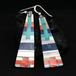 Pueblo Inlay Earrings by Stephanie & Tanner Medina