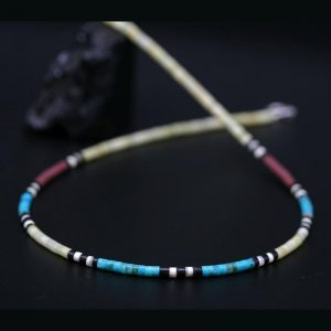 Kewa Heishe Necklace by Harvey & Janie Chavez