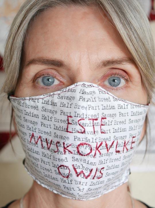 Este-Mvskokvlke-Owis, self-portrait by Melinda Schwakhofer