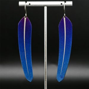 Large Blue TechFeathers by Pat Pruitt