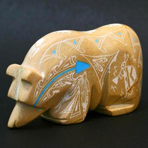 Bear fetish carving