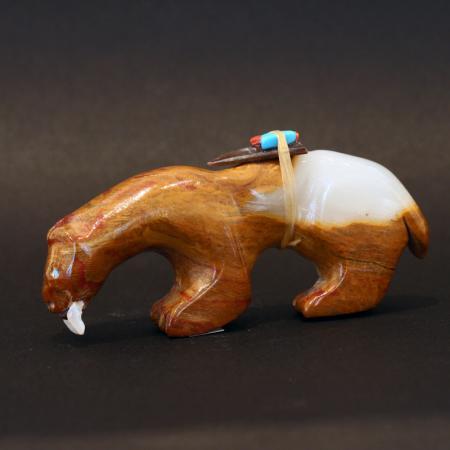 Sabre tooth tiger by Jimmy Yawakia, Zuni
