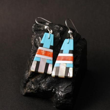 Kewa Pueblo earrings by Stephanie Medina