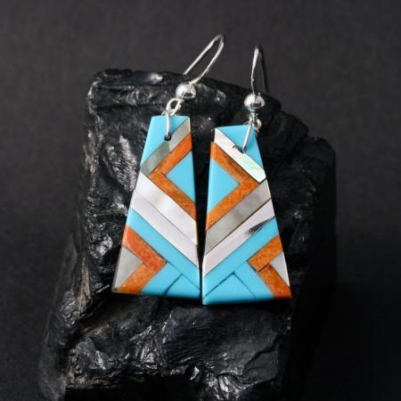 Lightning earrings by Stephanie & Tanner Medina