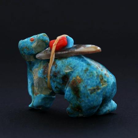 Turquoise Bear (Anshe) fetish by Jimmy Yawakia