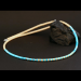 Melon Shell and Turquoise Heishi Necklace by H & J Chavez