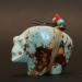 Turquoise Bear Fetish by Jimmy Yawakia