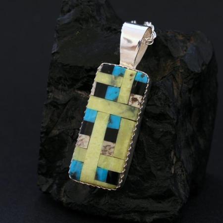Mosaic pendant by Dana Chavez