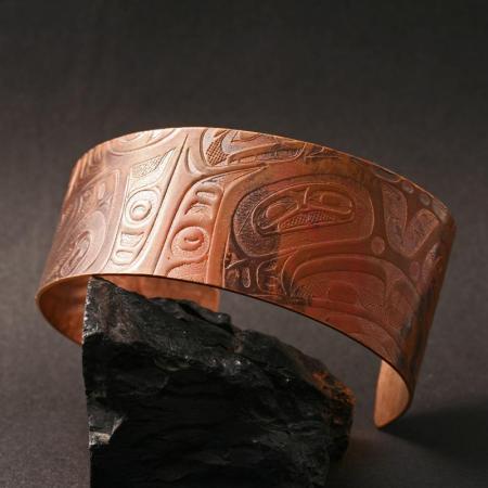 Gwaai Edenshaw copper cuff