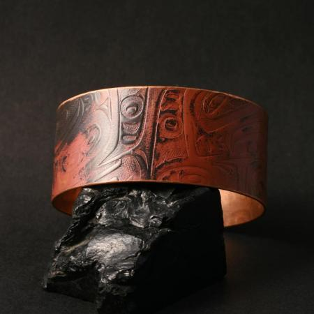 Haida copper cuff by Gwaai Edenshaw