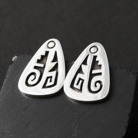 Sterling silver Hopi Studs by Anthony Honahnie