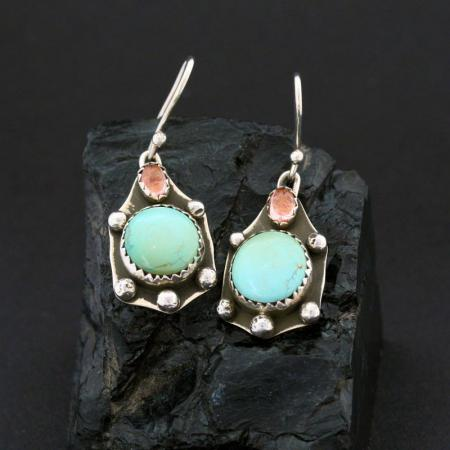 Turtle Earrings by Annalisa Martinez, Taos Pueblo