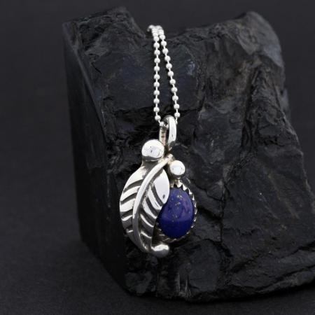 Lapis Lazuli Leaf pendant by James Eustace
