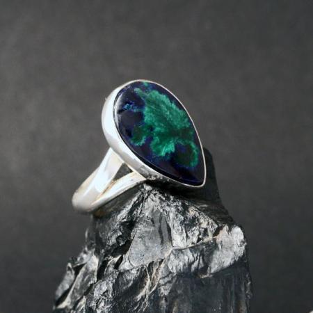 Azurite Ring by Harvey & Janie Chavez