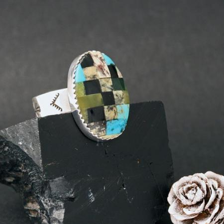 Mosaic Ring by Dana Chavez