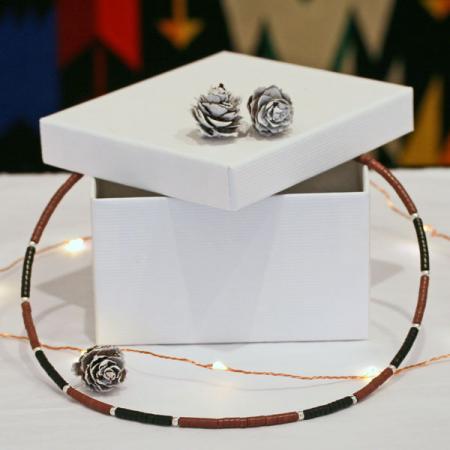 pipestone heishi necklace by Harvey & Janie Chavez