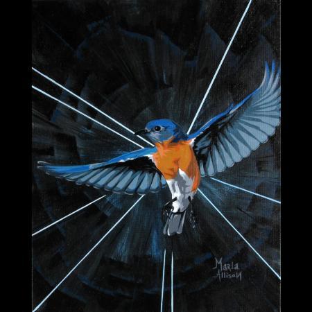 Fly Free, acrylic on canvas board by Marla Allison
