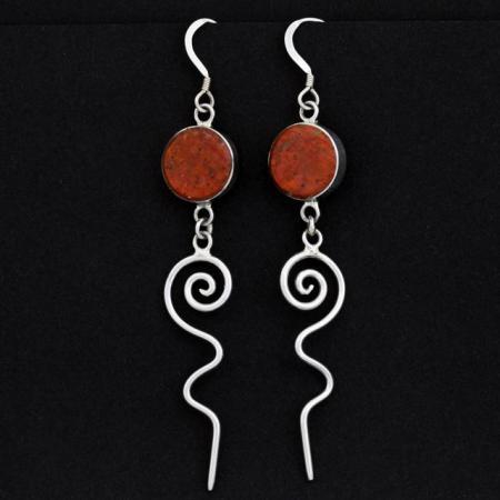 Cuprite Earrings by Duran Gasper, Zuni