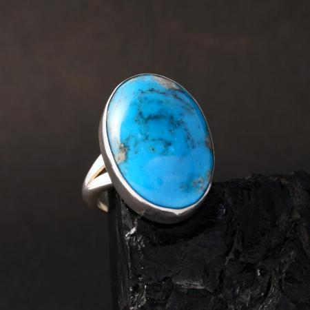 Nacozari turquoise ring by H&J Chavez.