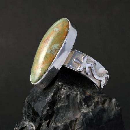 Manassa turquoise ring by Dana Chavez
