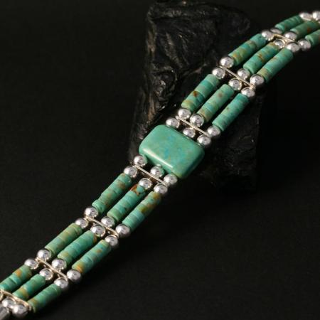 Turquoise Bead Bracelet by Jonathan Garcia