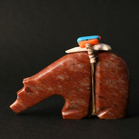 Red Serpentine Bear by Tony Laiwakete