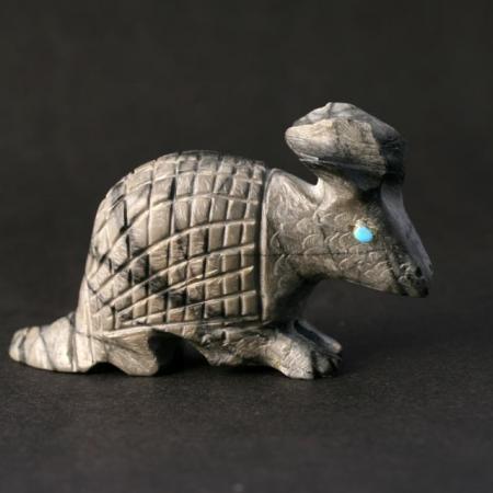 Armadillo hand carved by Dane Malani, Zuni