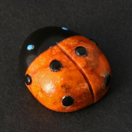 Ladybug by Georgette Quam, Zuni