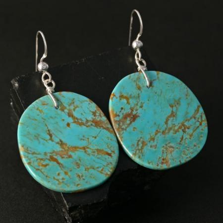 Traditional slab earrings by Jennifer Medina