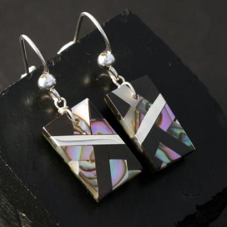 Abalone Mosaic Earrings by Stephanie Medina