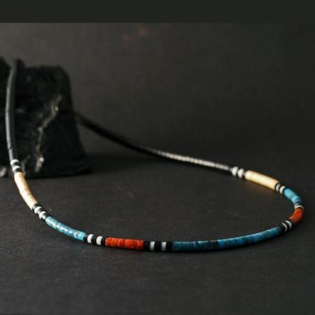 Heishi Necklace by Harvey & Janie Chavez